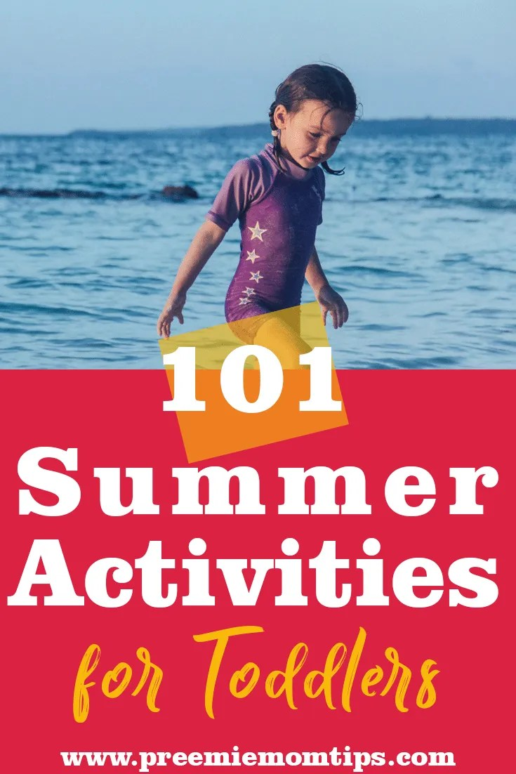 Summer is officially here! That means that school is over, and we need to keep our toddler busy! Here's a list of 101 Fun Summer Activities for Toddlers! #summer #toddler #momlife #summerfun