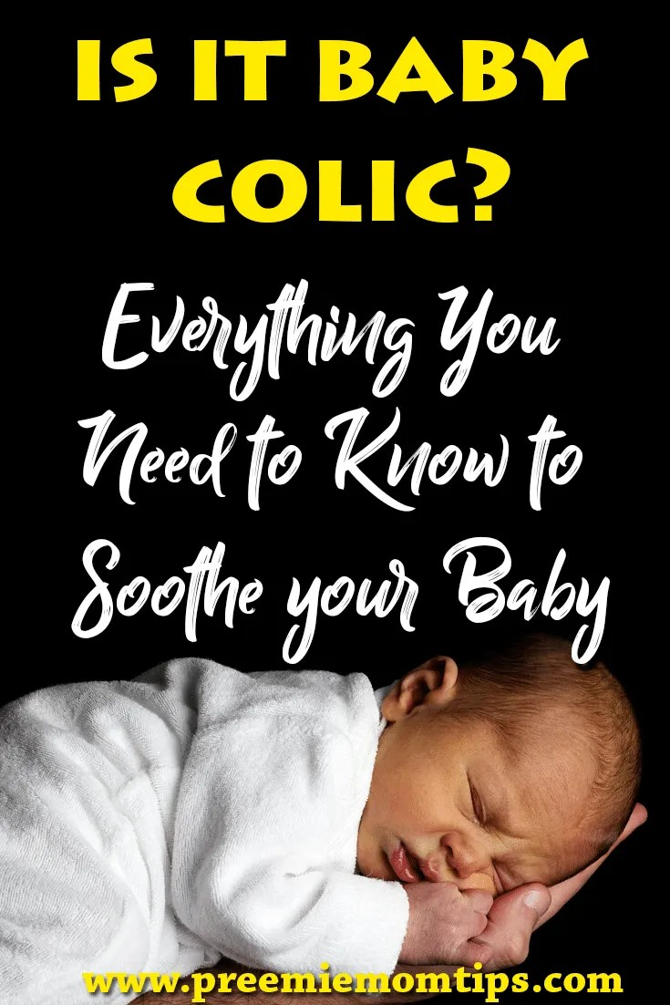 Does your baby have colic? Calm baby colic by knowing what it is, and how it can affect you and your baby. Baby colic calming techniques, tips and tricks #baby #colic #mom #parenting
