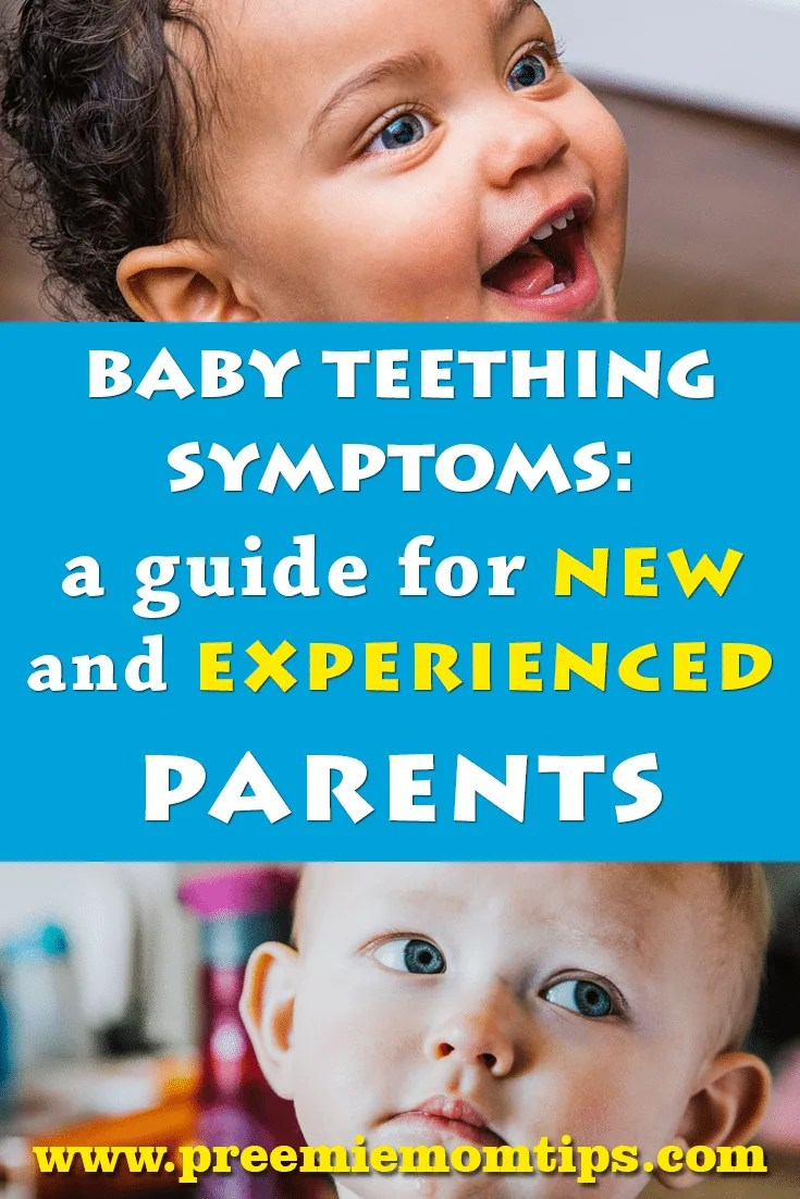 Baby teething is a difficult time, but it's very exciting, too! As a parent, it's our duty to know how to recognize baby teething symptoms, and calm a teething, beautiful, baby! #baby #teething #parenting