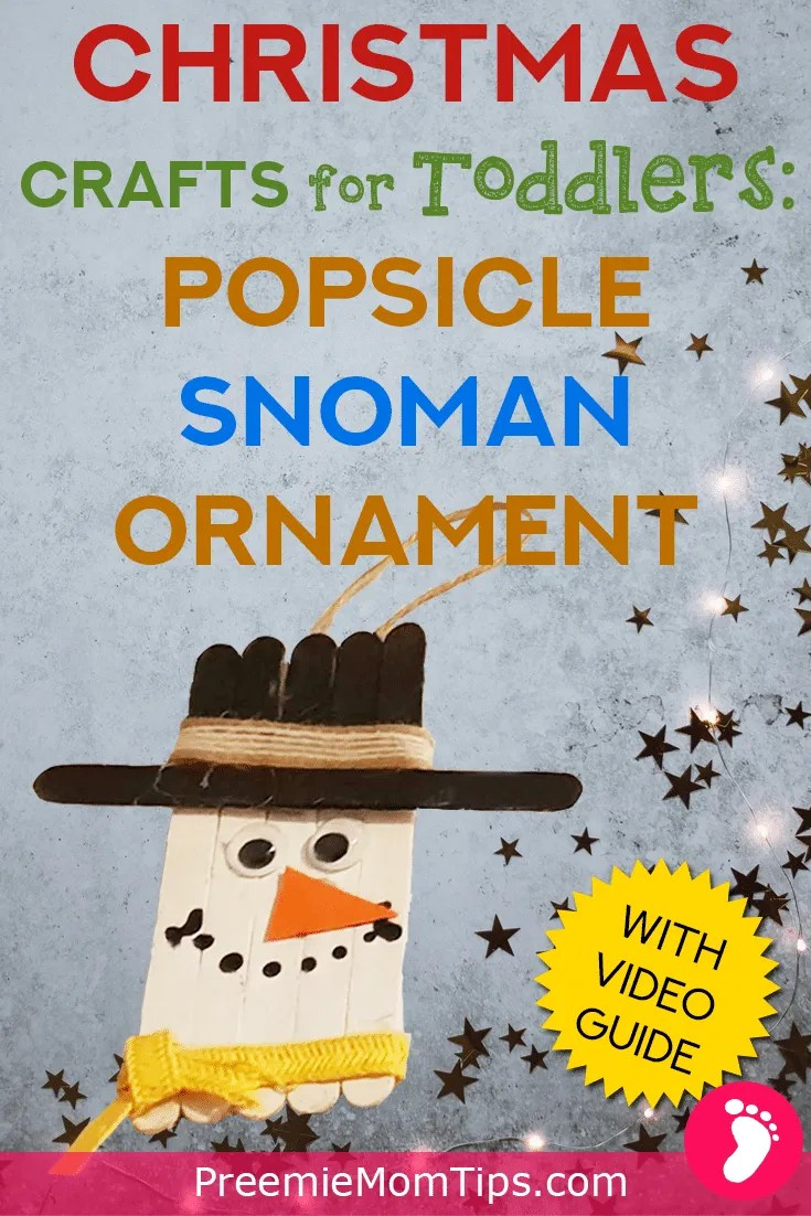 This DIY Popsicle Snowman Ornament is the perfect Christmas craft to make with your toddlers and children this Holiday season! It's perfect for moms and dads who are looking for a simple Christmas craft to make with their families!