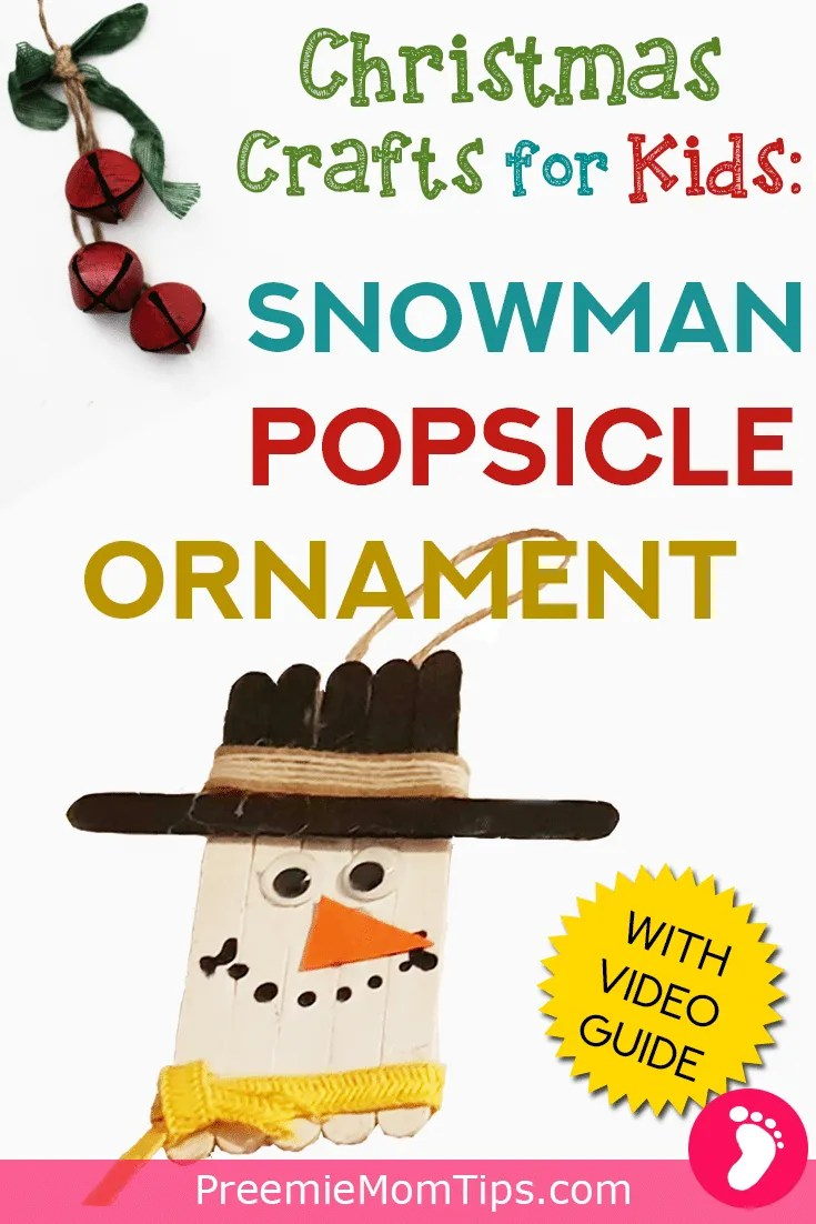 Have fun this Holiday season with your toddler with this DIY Christmas Craft: A Popsicle Snowman Ornament. It's simple, fast, and beautiful!
