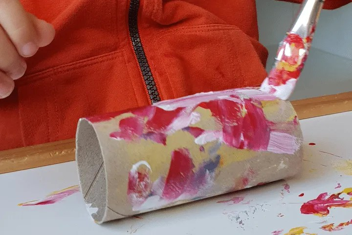 Toddler Crafts: Bunny Paper Roll Step 2