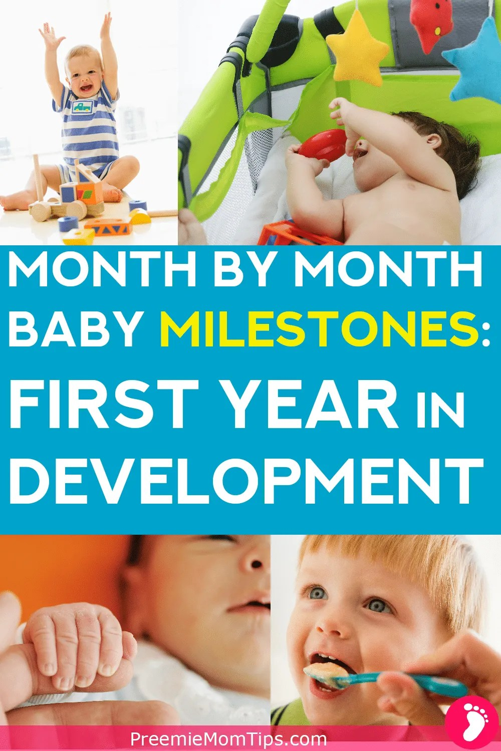 Keep your baby's development in check, from newborn to 12 months old, with this milestone development guide for new parents! Comes with a month by month printable milestone checklist.