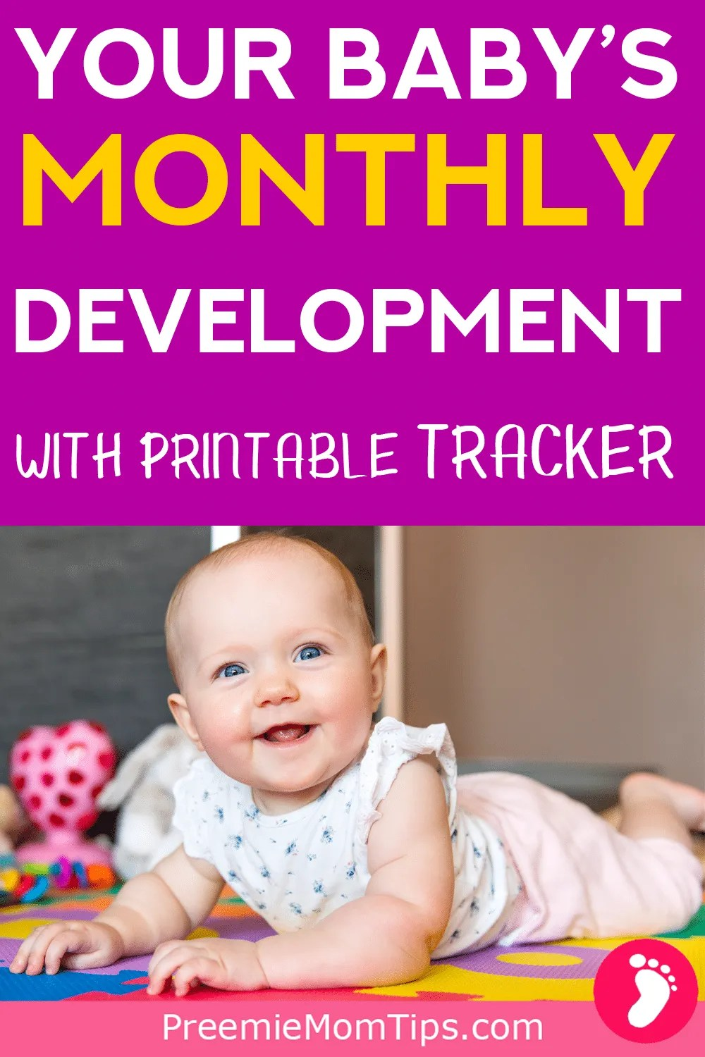 Is your baby's development on track? Check out your baby's month by month development to keep track as a new mom!