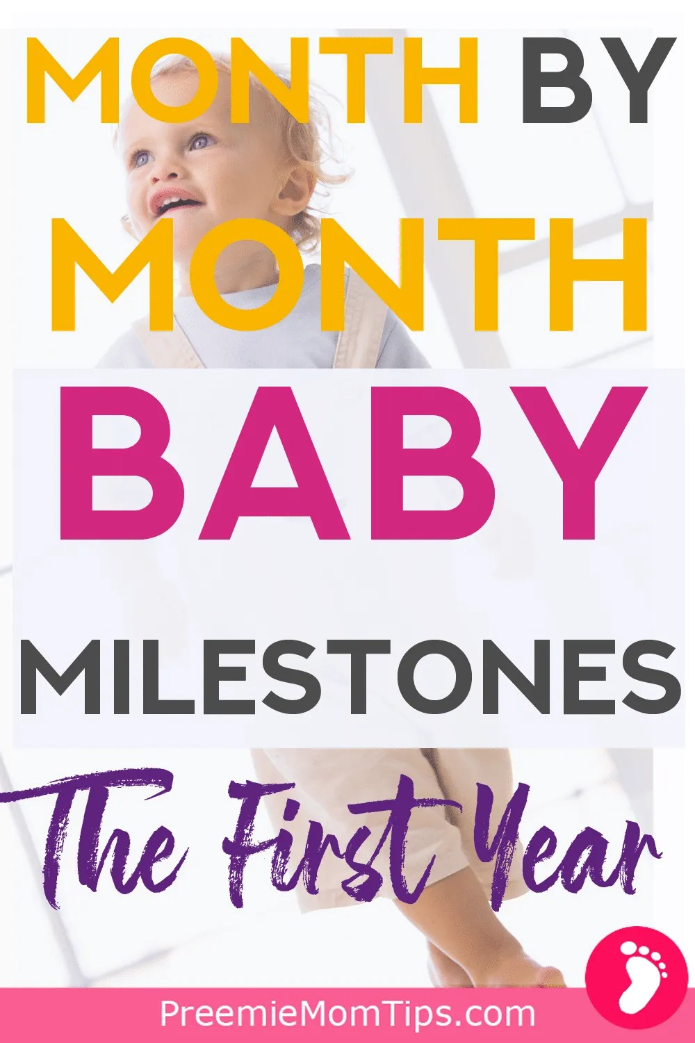 Keep your baby's development on check with this monthly guide, so you don't miss a milestone as a new mom!