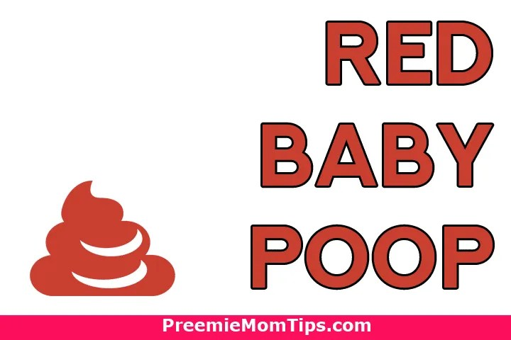 What does red baby poop mean?