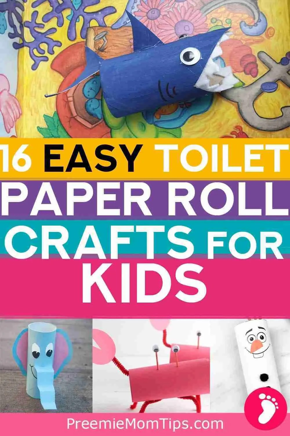 Check out these 16 easy toilet paper roll activites foor kids to try indoors