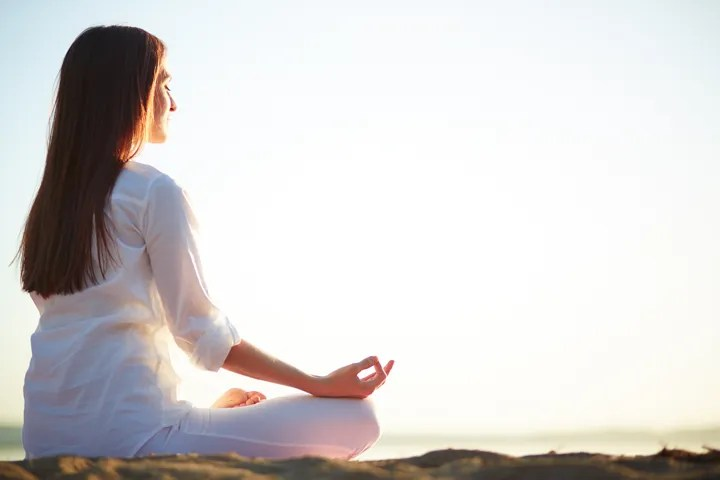 Meditation is a great way to relieve stress during your pregnancy