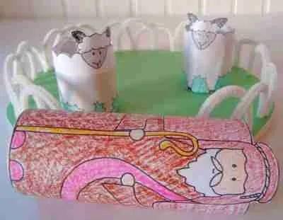 Easy Toilet Paper Roll Craft for Kids: Shepherd Craft