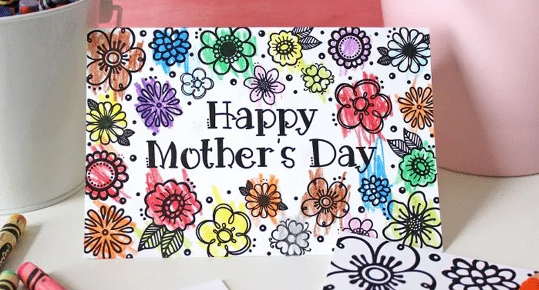 Paint this adorable DIY Mother's Day card and surprise mom with a lovely keepsake