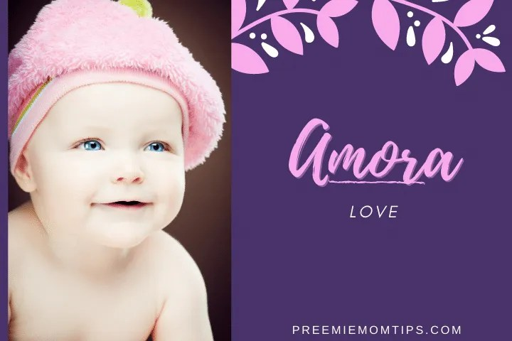 "Amora is a rare but trending baby girl name that means ""Love""."