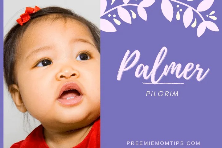 "Palmer is a trending baby girl name that means ""Pilgrim""."