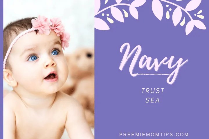 Navy is a trending baby girl name.