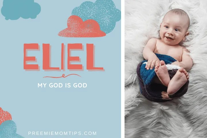 "Eliel is a popular name for baby boys meaning ""My God is God""."