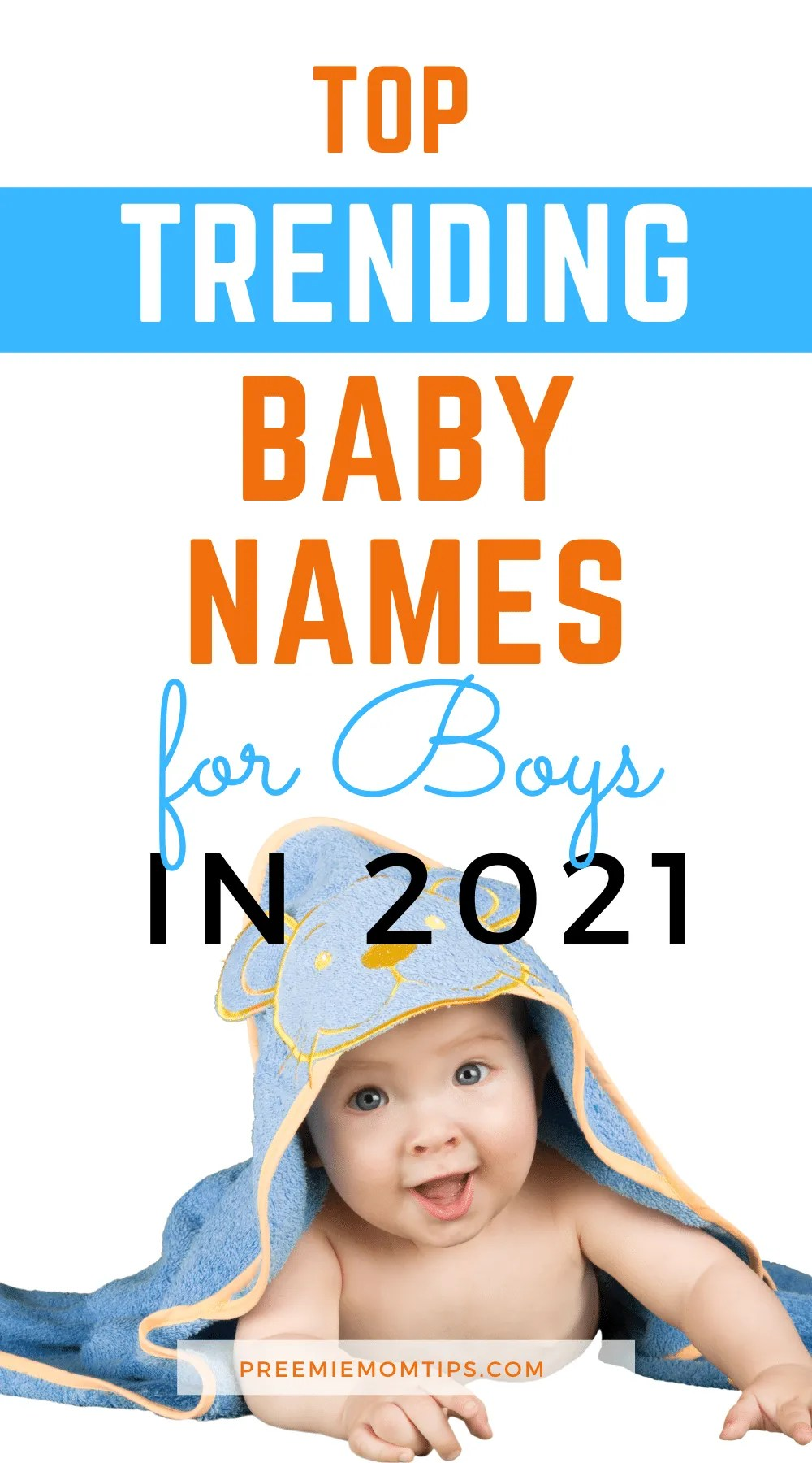 These are the top trending baby names for boys, to give new moms inspiration to find the perfect name for their baby boys!
