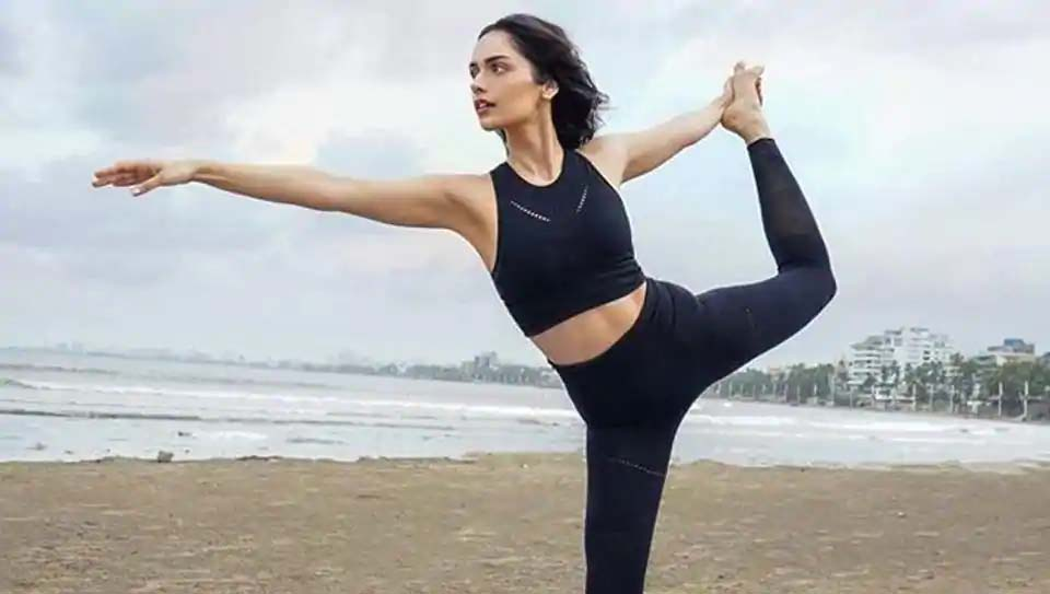 National Nutrition Week: Manushi Chhillar runs on the beach, practices yoga, gives fitness goals