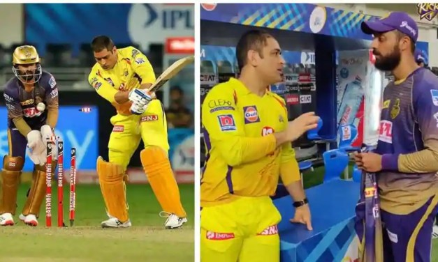 IPL 2020, KKR vs CSK: After getting dismissed by him, MS Dhoni gives tips to Varun Chakravarthy – WATCH