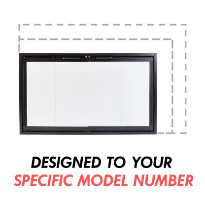 EZ Fireplace Door for prefab zero clearance factory built fireplaces designed to specific model number custom