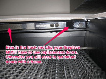 track and clip for prefab fireplace