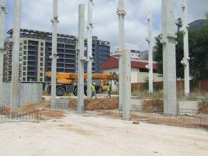 foto de pilares montados