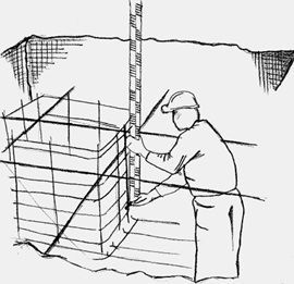 imagen de colocación de jaula para ejecución de cáliz