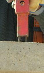 foto de colocación de poste corta para línea de vida