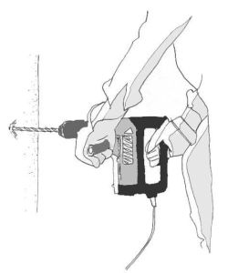 imagen de taladro perpendicular a la pared