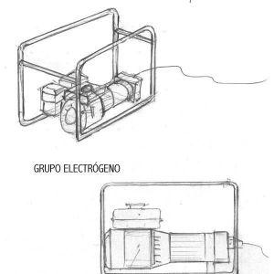 Dibujo de grupo electrógeno