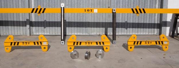 ejemplo de uno de los útiles para montar pilares prefabricados