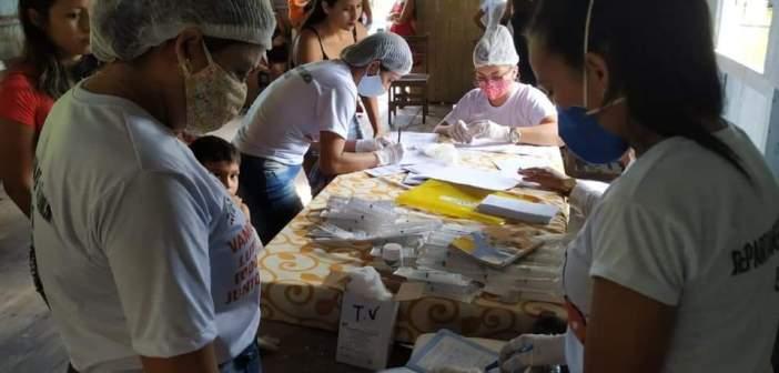 Ação de Saúde Básica na Ilha de Caracará