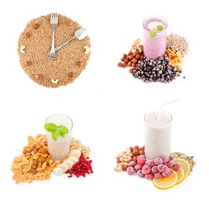 Hours of beans and nuts. 3 images of folate rich smoothies