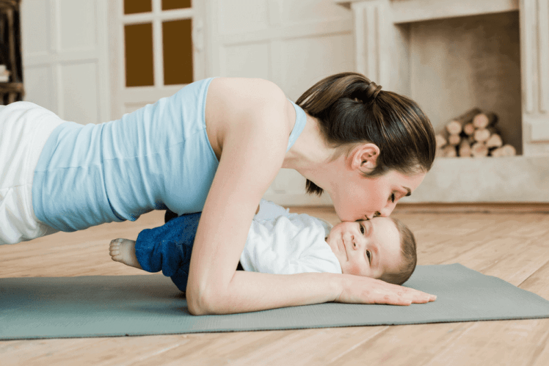 How to get a flat stomach after baby.