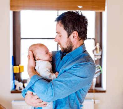 Helping your husband bond with baby.