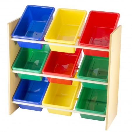 meuble de rangement 3 etages avec 9 casiers prego mej9