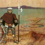 stillbilde - rex barbaricum - folkevandring - illustrasjon av gammel kriger