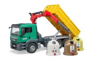 MAN TGS Kran LKW mit 3 Altglascontainer + Flaschen