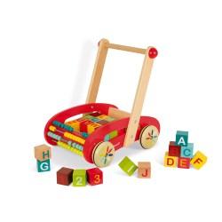 Wagen ABC mit 30 Bausteinen (Holz)