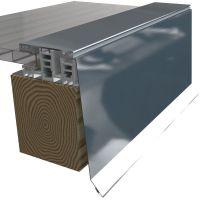 Attika Seitenabschluss für Mendiger Profil 2m Länge 35µm Holzoptik Höhe 200 mm