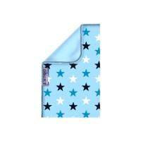 Dooky Blanket - Decke / doppellagig / Blaue Sterne/Hellblau