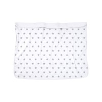 Dooky Blanket - Decke / doppellagig / Silberne Sterne/Weiß