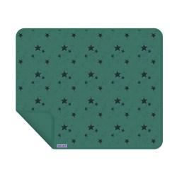 Dooky Blanket - Decke / einlagig / Grüne Sterne