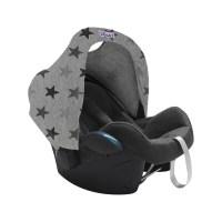 Dooky Hoody - Sonnenverdeck für Babyschalen / UPF 50+ / Graue Sterne