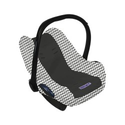 Dooky Seat Cover 0+ - Babyschalenbezug / Graphitgrau Zick Zack -...