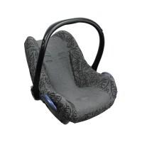 Dooky Seat Cover 0+ - Babyschalenbezug / Graue Blätter