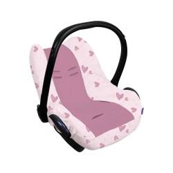 Dooky Seat Cover 0+ - Babyschalenbezug / Pink Herz