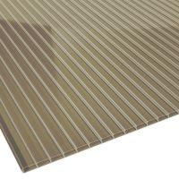Doppelstegplatte Acrylglas bronze Stärke 16 mm Breite 1,2 m
