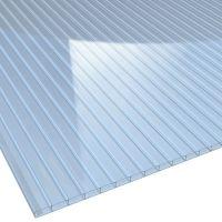 Doppelstegplatte Acrylglas Klima Blue lichtblau Stärke 16 mm Breite 0,98 m