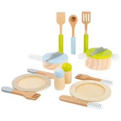 Geschirr- und Topfset Kinderküche