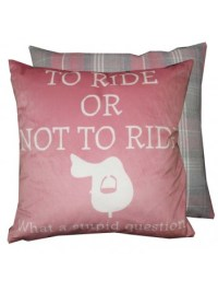 Grays Cushion Kissen To Ride or not to Ride Fuschia