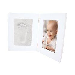 Happy Hands - Hand & Fußabdruckset / weißer Doppelrahmen groß